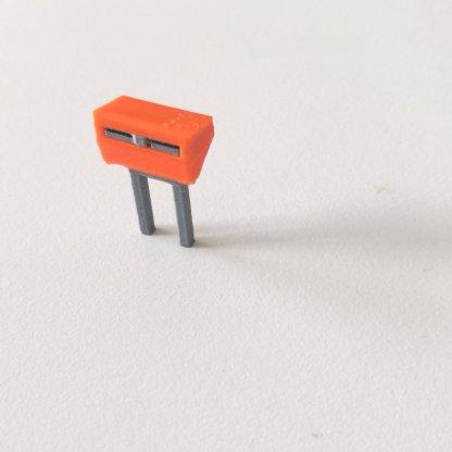 Full color PostNL brievenbus in schaal H0 3d print