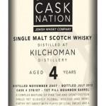 Kilchoman 4, Bourbon Cask