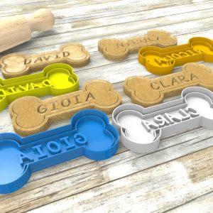 Cookie cutter personalizzabile Osso