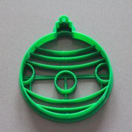 Christmas ball cookie cutter