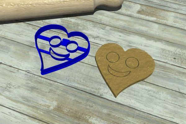 Saint Valentine cookie cutters