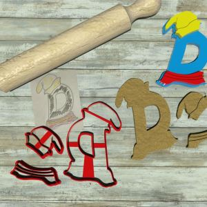 Lettera D formina componibile