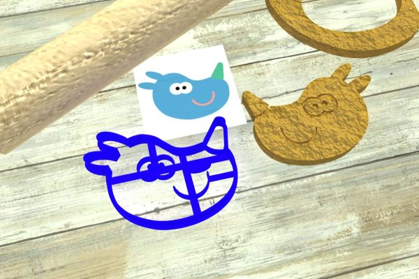 Hey Duggee Tag cookie cutters