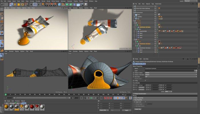 cinema 4d professional 3d software