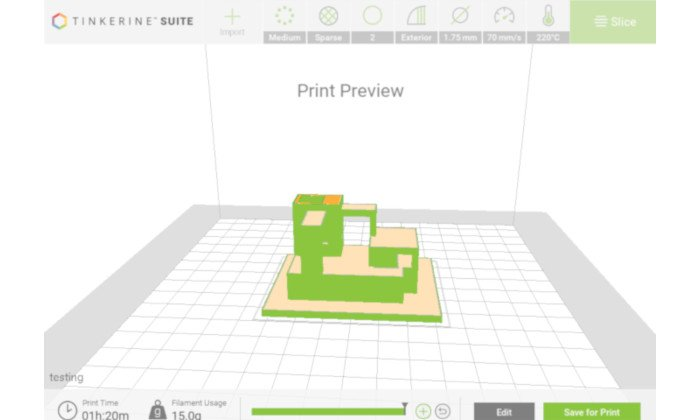 tinkerine suite slicer for education in schools