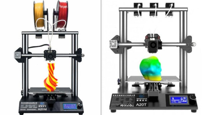 geeetech mix color 3D printing