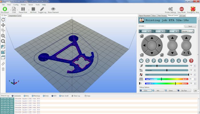 repetier host 3d printer software