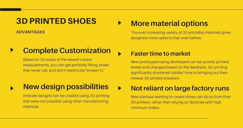advantages of 3d printing shoes