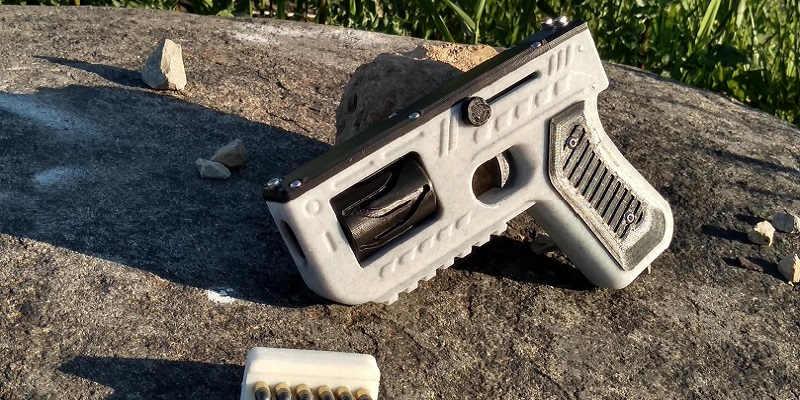 PG22 Maverick V2.  A 3D printed and metal handgun.
