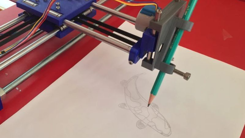 3D Printer drawing machine project