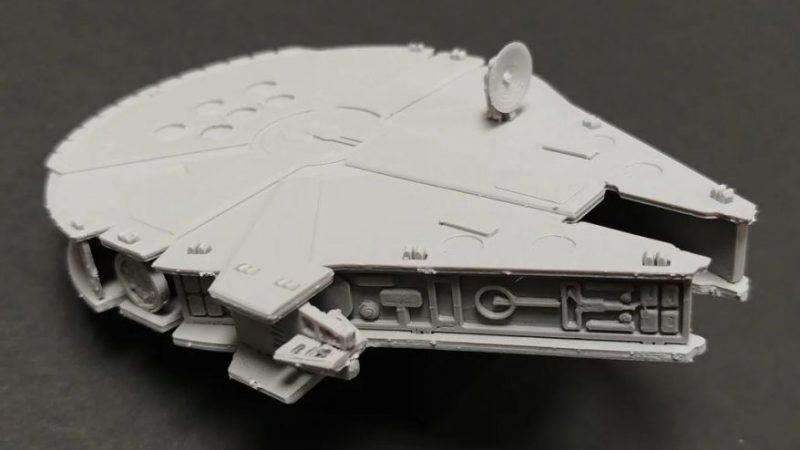 3D printed project kit cards complete millennium falcon