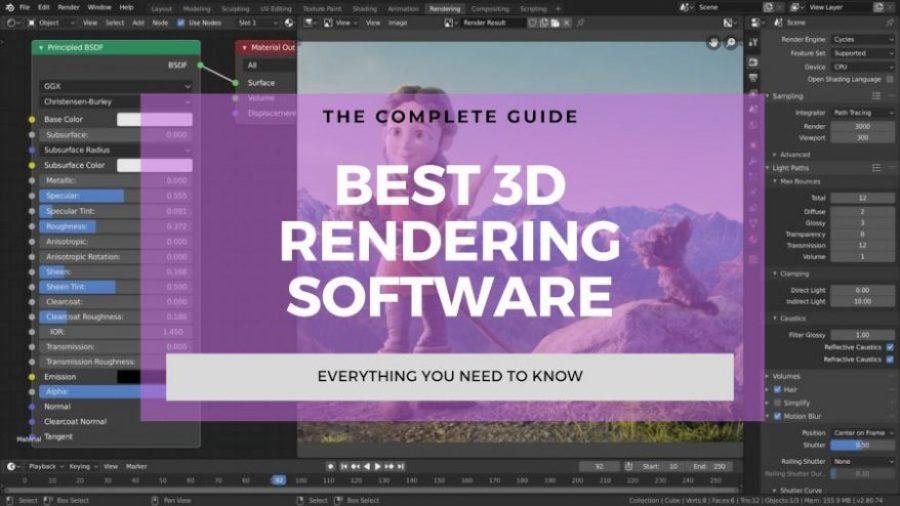 best 3d rendering software