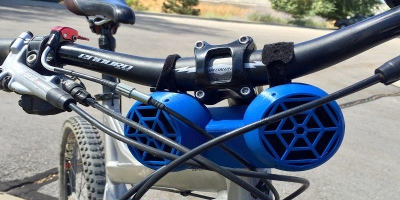 3D Printed Bike acessory speakers handlebars