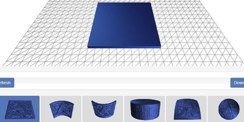 Lithophane 3D modeling software