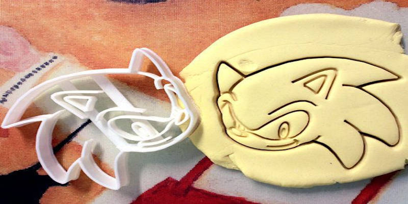 3D Printed Cookie Cutter Sonic the Hedgehog