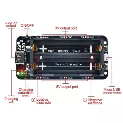 Modul za 18650 baterije dvojni 02