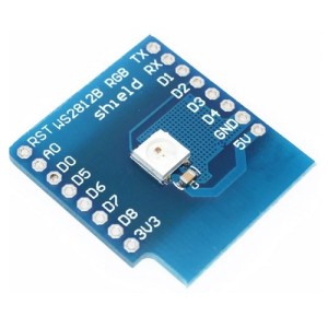 ESP32 D1 mini razširitev - 5050 RGB WS2812 LED 01