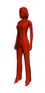 modely 3D žena
