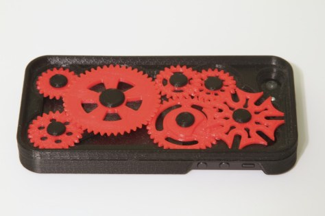 iPhone 5 Case with Moving Gears and Geneva Mechanism
