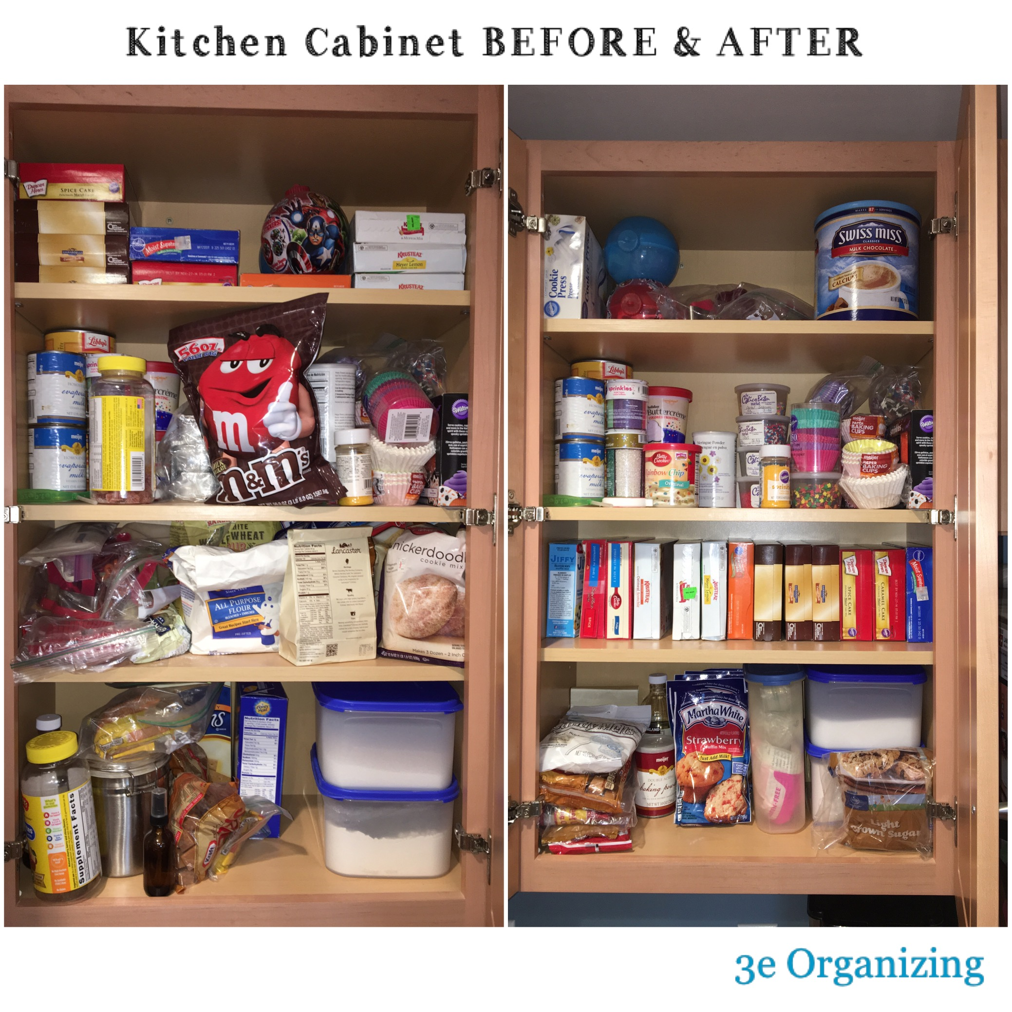 Organized Kitchen Before And After: 3e Organizing, Lindsay Palmgren, Before And After Photos