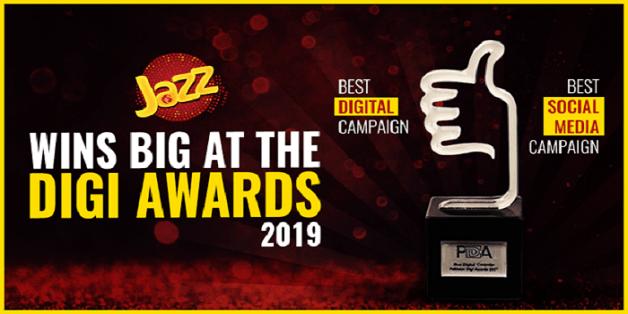 Jazz Wins Big at Pakistan Digi Awards 2019