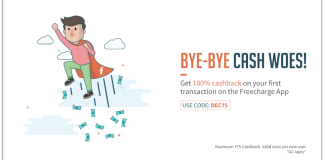 freecharge new offer 100% cashback loot
