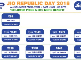 jio republic day 2018 new plan