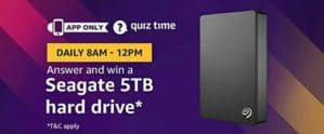 amazon seaget 5tb quiz answer