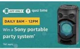 amazon sony portable part system quiz answer