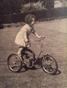 Sheila breaking the rules on Leslie's trike