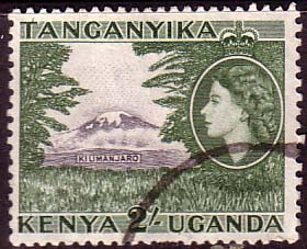 The 2/- stamp I didn't have, showing Kilimanjaro