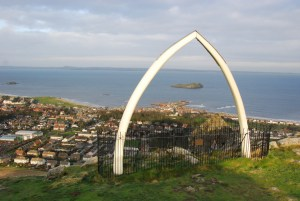 The whale jawbones at the top of The Law - now, sadly, replicas