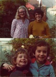 Mary & Sheila in the early 70s, and their youngest children - Amy and Gwen at the same time