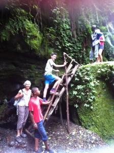 Waking towards the waterfall