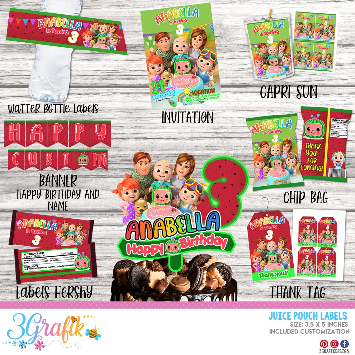 party cocomelon pack printable