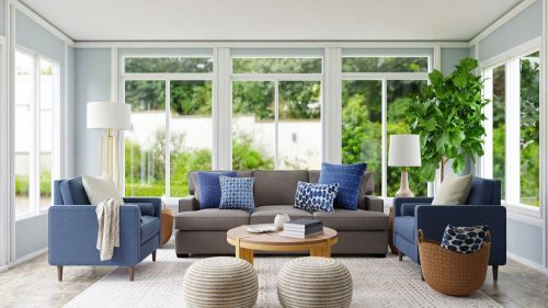 Blue and yellow are the colours associated with bright summer skies and sandy beaches. 8 Interior Design Trends For Summer Of 2021 3 Key Properties