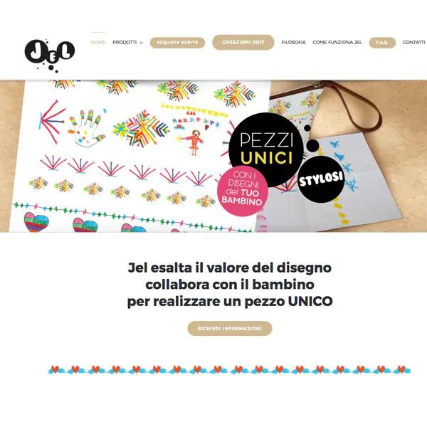 Web design per il sito web jel pochette personalizzate for Design sito