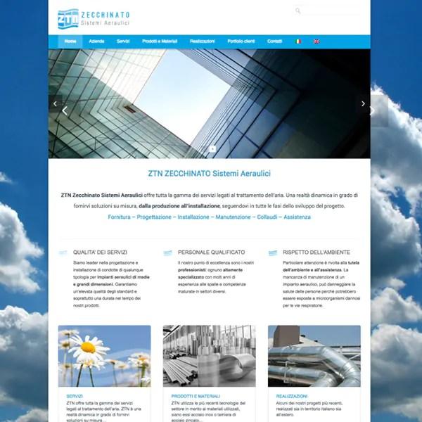 Sito webdesign ZTN Sistemi Aeraulici