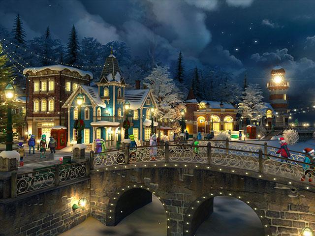 Holidays 3D Screensavers Snow Village Heartwarming