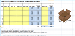 Express Chargeable Weight Calculator