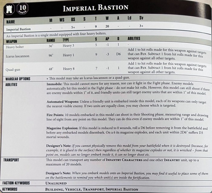 HOLD THE LINE! Imperial Fortifications in 8th Edition 40k - 3++
