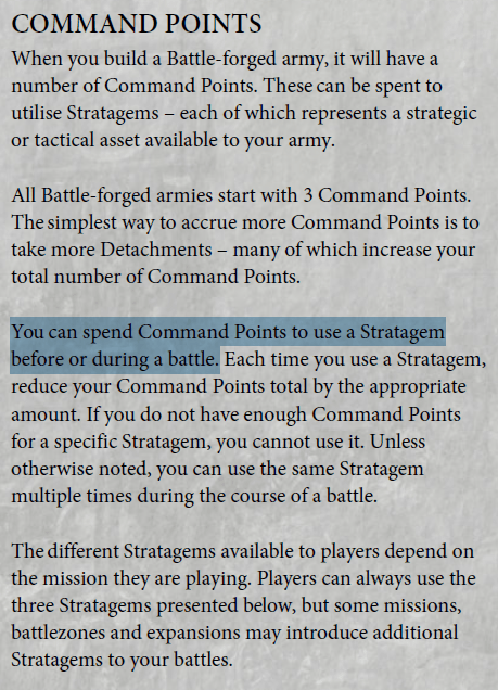 Image result for warhammer 40,000 detachments battle-forged 3 command points
