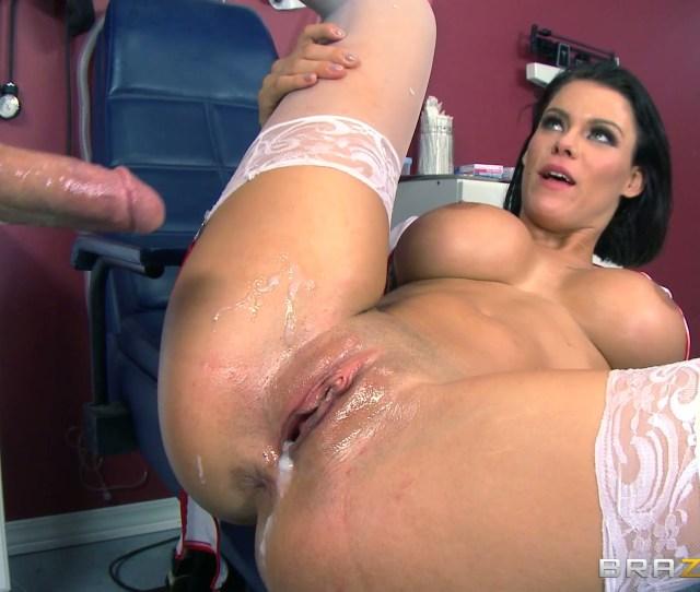 Amazing Brunette Nurse Peta Jensen Cures Patients With Her Pussy