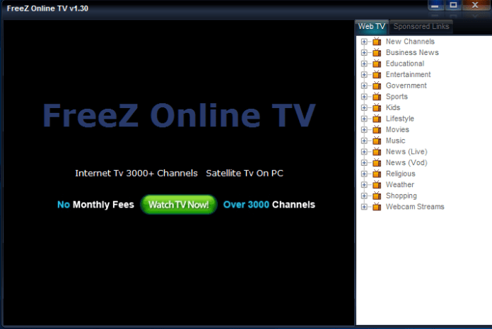 TV on computer software