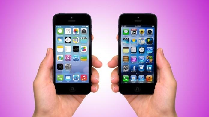 apple iOS6 vs apple iOS7