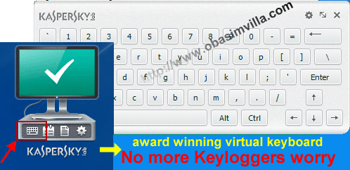 kasperky internet security review- behold the virtual keyboard