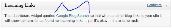 tips to enable incoming links notification dashboard widget in wordpress
