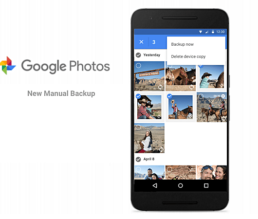 Manually Backup Files on Google Photos