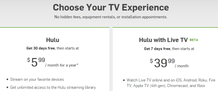 HuLu TV Streaming Service