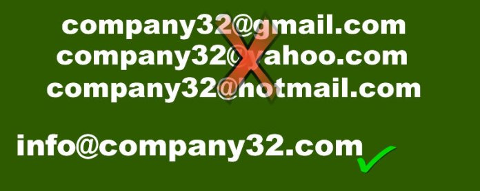 custom domain name email creation service